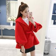 2018冬季新款女装毛呢外套短款韩版学生小个子冬装妮子大衣原宿风