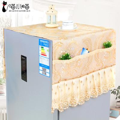 欧式布艺双开对开门冰箱巾冰箱盖布单开门冰箱防尘罩冰箱罩冰箱套品牌巨惠