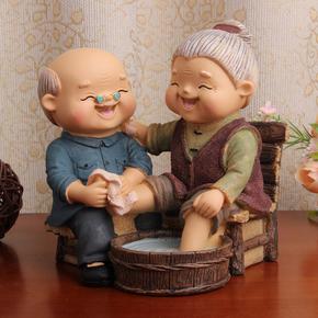 创意客厅卧室内小摆件家庭房间家里装饰品老人爷爷奶奶家具工艺品