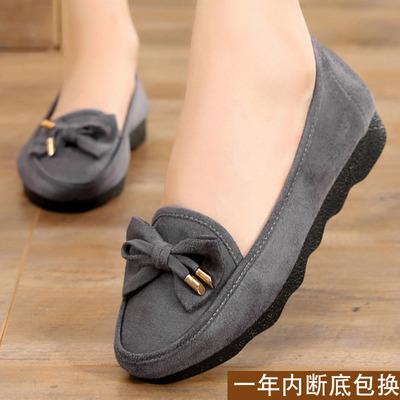 大码布鞋女41-43中年女人穿的鞋子2018新款韩版百搭平底女士帆布