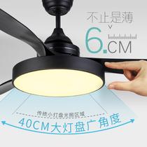 森林风新款风扇灯 现代简约带风扇吊灯餐厅吊扇灯 卧室家用客厅灯
