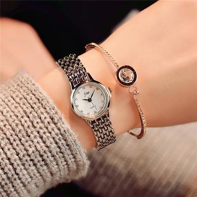 銀色鏈條手表鋼帶流蘇潮流女士夏季時尚款水鉆女式裝飾石英表腕表雙十一折扣
