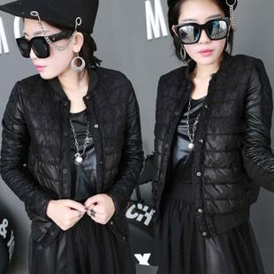冬装新款蕾丝短款棉衣小外套修身显瘦轻薄棉袄时尚羽绒棉服女潮