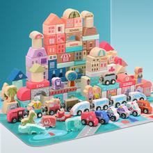 6岁男孩4多功能5木头 儿童积木拼装 玩具益智早教幼儿女孩宝宝2图片