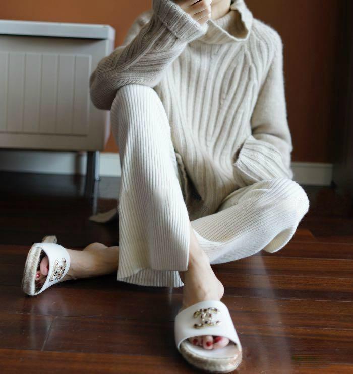 韩国女装秋冬新款加厚宽松高领羊绒衫毛衣休闲针织打底衫羊毛衫潮