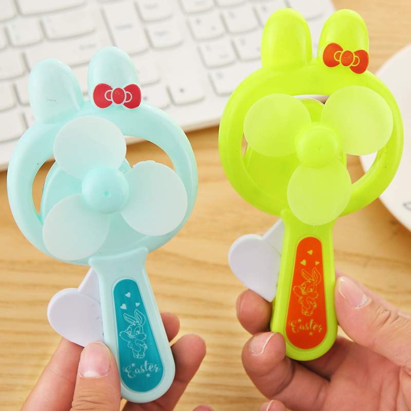 Cartoon cute hand pressure small fan portable mini children's toys student kindergarten knot