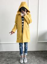 9018BAFY新品闲外套双排扣长款风衣女