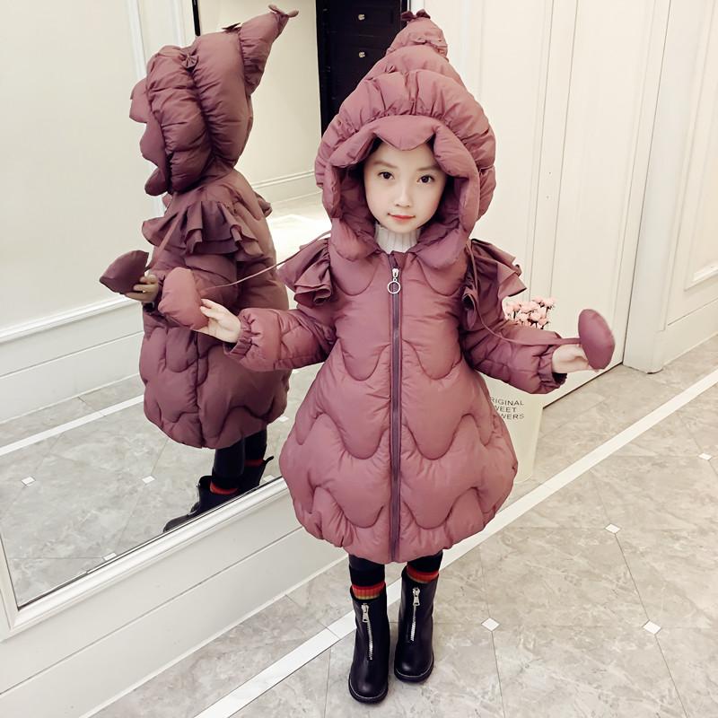 女童洋气棉衣款女宝宝外套女孩棉袄儿童羽绒棉服