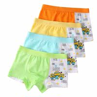 Children's baby cotton boxer kids modal 1-2-3-4-5-6 years old 7 boys cartoon boxer briefs