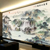 Cross stitch thread embroidery 2019 new living room home full full embroidery large landscape scenery Fuchun Mountain home map embroidery