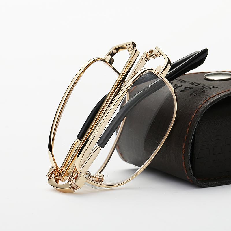 轩歌老花镜男女全框老花眼镜女超轻折叠舒适便携高清树脂片老人镜