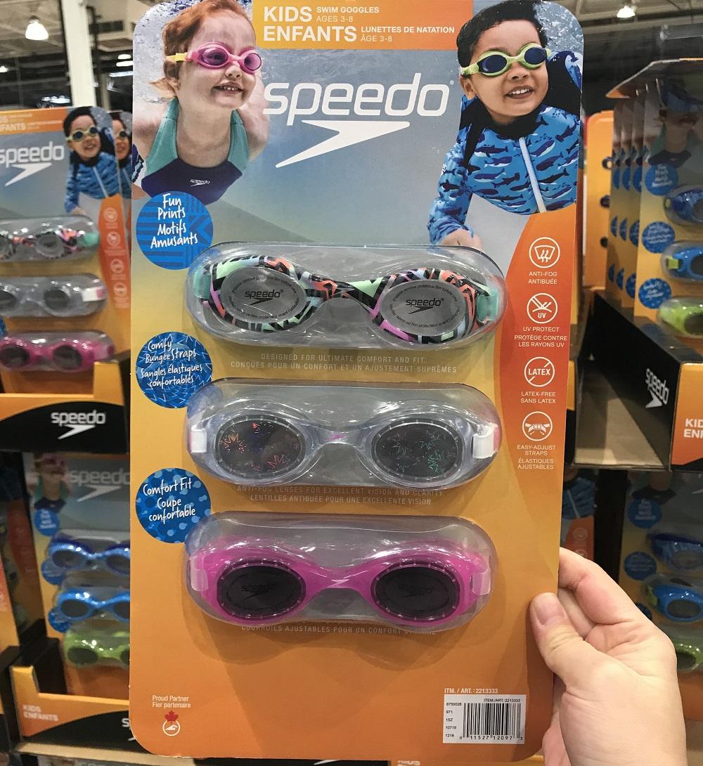 加拿大发货 Speedo速比涛儿童3-8岁泳镜游泳镜防雾3只装
