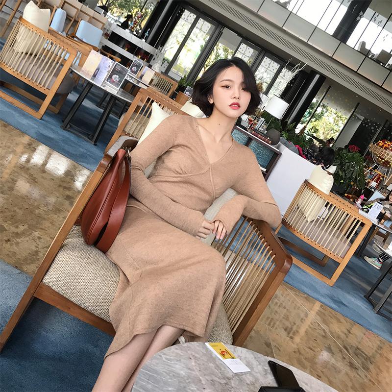 时尚针织抹胸裙