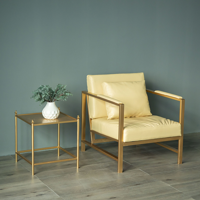 铁艺沙发椅北欧单人沙发椅组合办公室双人接待室简约现代懒人沙发