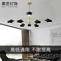 长条灯床头灯复古式吊灯吊链风创意掉灯装饰单头黄罗浮宫led