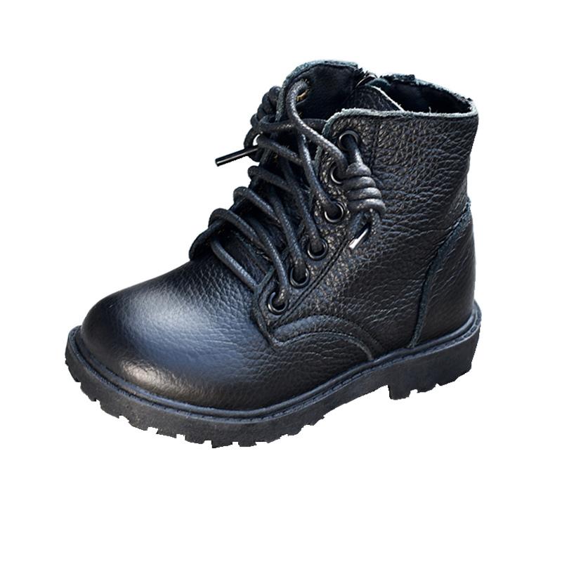 真皮牛皮马丁靴女童加绒公主靴短靴棉靴单靴秋冬2019新款男童皮靴