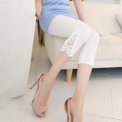 春秋季纯棉带裙子的打底裤女外穿薄款包臀假两件套弹力裤黑色裙裤