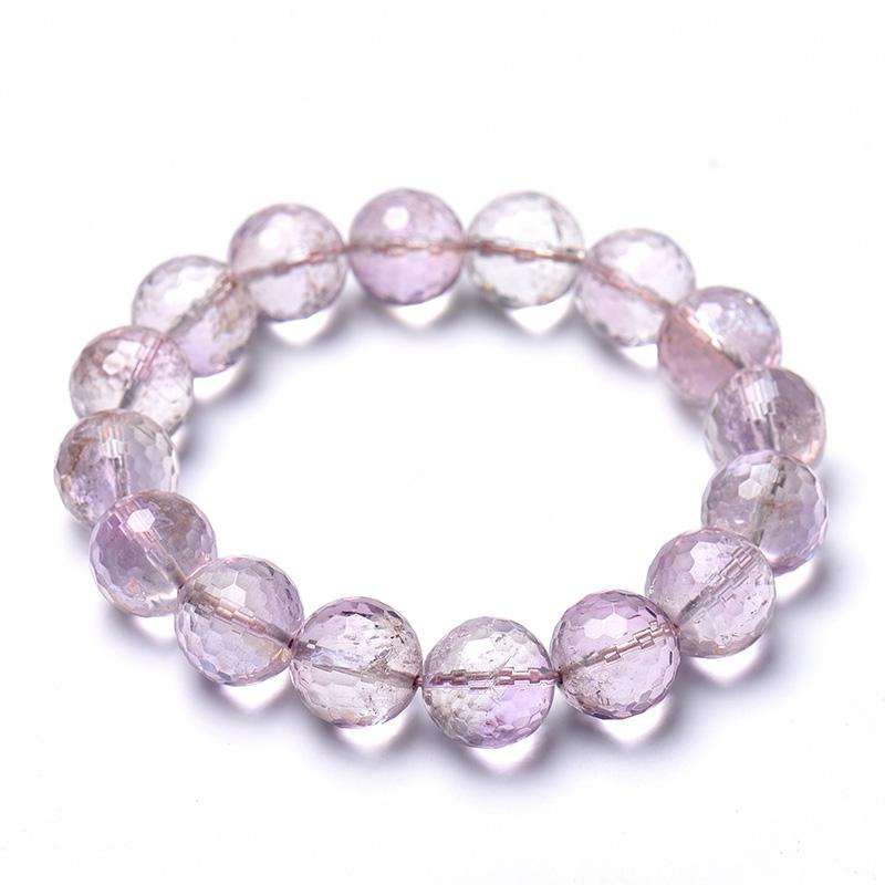 天然紫水晶手串男女甜美简约时尚专柜情侣款转运招学生桃花运手链