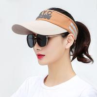 2018新款男女帽子通用户外旅行遮阳帽登山帽防晒帽空顶帽
