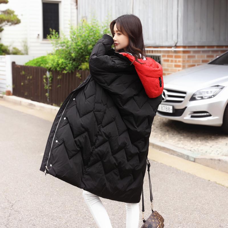 韩版不规则棉服女