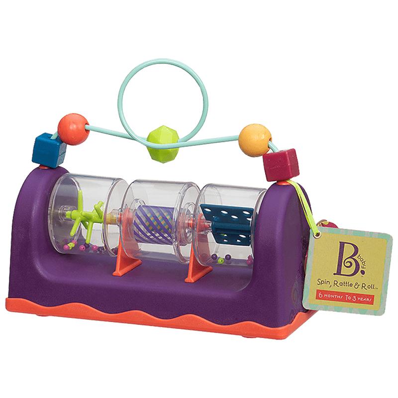B.Toys比乐儿童旋转滚动发声玩具婴幼儿绕珠宝宝早教串珠益智床铃