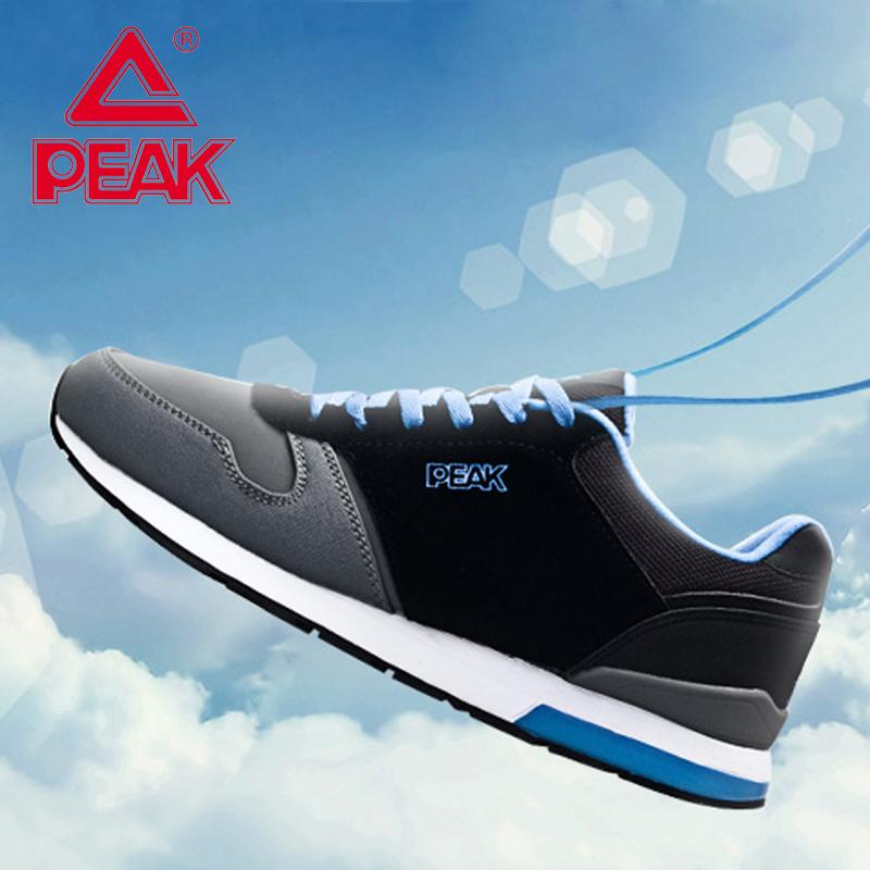 匹克男鞋复古反绒运动鞋男士秋冬季皮革面防水跑步鞋防滑耐磨正品