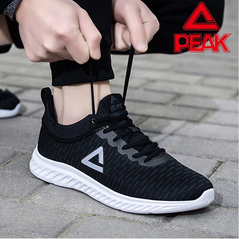 匹克运动鞋男鞋网面透气跑步鞋2019秋冬季新款跑鞋袜子鞋黑白鞋潮