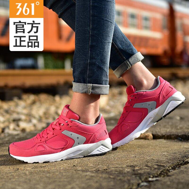 361女鞋透气跑步鞋秋季新款正品复古跑鞋女网面361度运动休闲鞋女