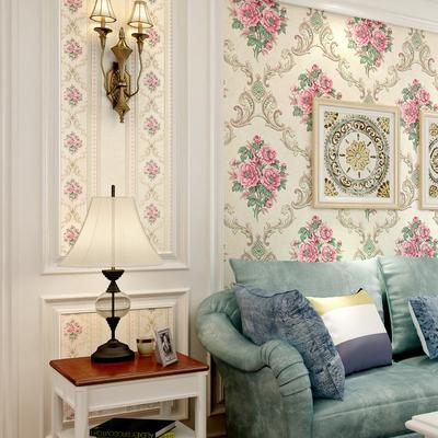 重慶實體店 3d立體浮雕無紡布壁紙美式復古花朵客廳臥室背景墻紙雙十二