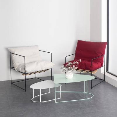 工业风北欧现代简约铁艺沙发设计师单人个性INS创意工作室布艺椅2018新款
