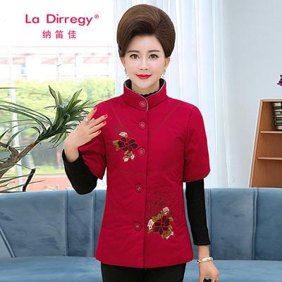 中老年女装马甲短袖春秋装新款中年妈妈装棉马夹外套上衣棉衣背心