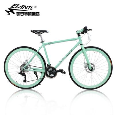 美安特夜光公路自行车27速自行车双碟刹男女学生公路车单车赛车