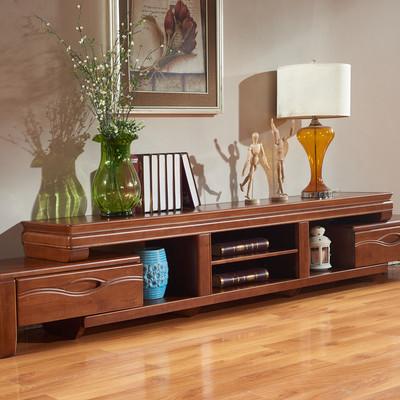 百木 现代中式电视柜伸缩带抽屉中式实木电视柜橡木客厅组合YHDA8怎么样