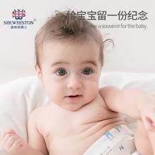 宝宝手足印泥手足印手脚印手印纪念品婴儿新生儿水晶相框饰品