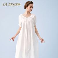CA BRIDA/嘉德丽亚18新款春夏法式优雅绣条棉布睡裙CIS4B463C1