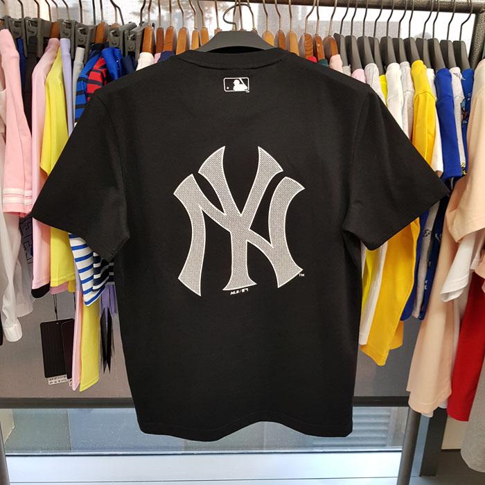 进宝韩代 MLB经典正品T恤黑色男女情侣短袖上衣夏新款NY韩31TSJH