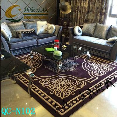 定制客厅卧室茶几地毯欧式现代简约新古典手工新西兰纯羊毛地毯品牌排行