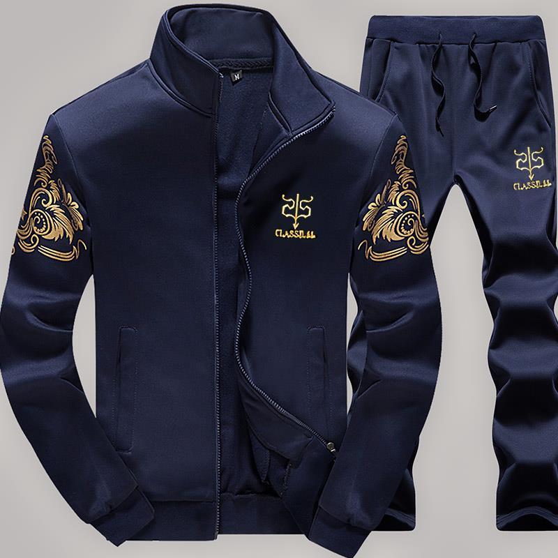 新款卫衣男休闲时尚韩版修身显瘦长袖卫衣男士长裤运动服套装男装