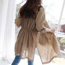 New linen chic small suit jacket for women in spring and summer of 2019