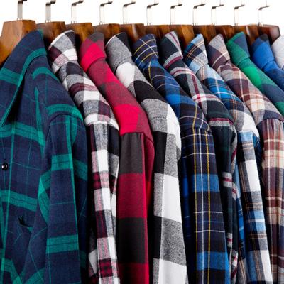 秋款磨毛格子衬衫男长袖青少年韩版修身休闲棉学生衬衣潮男装上衣