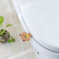 Creative Home Cute Cartoon Toilet Coverer Portable Toilet Handle Uncoverer Clamshell Coverer
