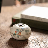 Hand-painted tea ceremony small incense burner household decoration for pure hand-made ceramic indoor sandalwood incense burner in Fojingdezhen