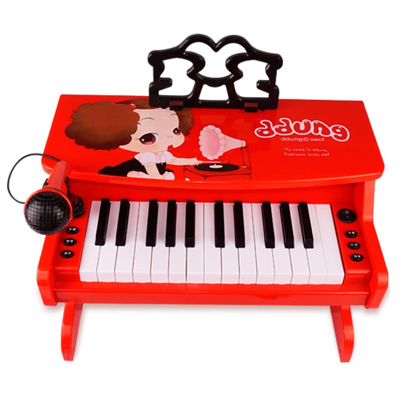 冬己儿童电子琴初学者带麦克风钢琴宝宝女男孩玩具1-3-6-12岁礼物