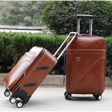 Pull rod box universal wheel 20 inch 24 inch cipher box, male hand box, business suitcase, soft travel bag, leather case.