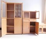 厨房置物架微波炉架带门落地收纳实木储物柜子层架电器烤箱架楠竹