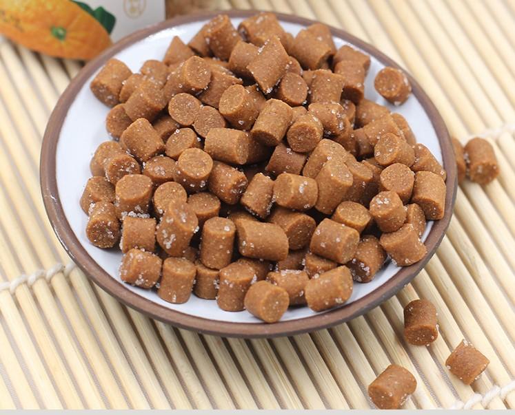 8瓶潮茂陈皮酸梅丹盐金枣柚子丹金梅片 果丹酸梅片压片糖瓶装零食