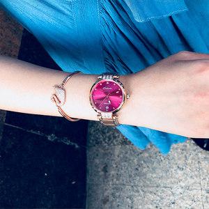 卡罗莱全自动机械表正品女士手表2018新款女表名牌防水时尚镶钻CK