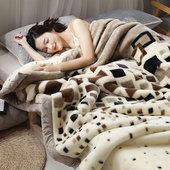 珊瑚绒毯子冬季加厚法兰绒毛毯学生单人宿舍保暖冬用被子双层盖毯
