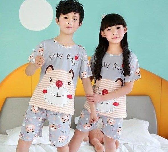 4儿童睡衣纯棉夏季男童短袖5短裤6夏天8薄款12岁9女童家居服抢拼