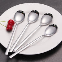 4 Korean Meal Spoon Korean Ladle Creative Personality Home Adult Eating Spoon Household Spoon Fork Set